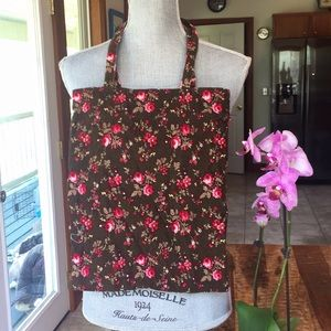 Old Navy Corduroy Floral Retro Bag